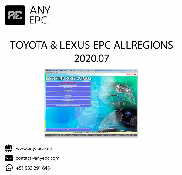 TOYOTA & LEXUS EPC ALL REGIONS 2020.07