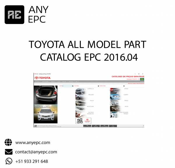 TOYOTA ALL MODEL PART CATALOG EPC 2016.04