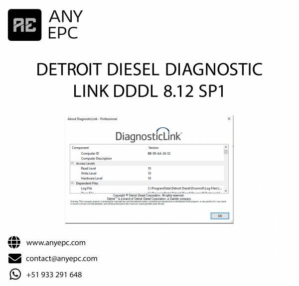 DETROIT DIESEL DIAGNOSTIC LINK DDDL 8.12 SP1